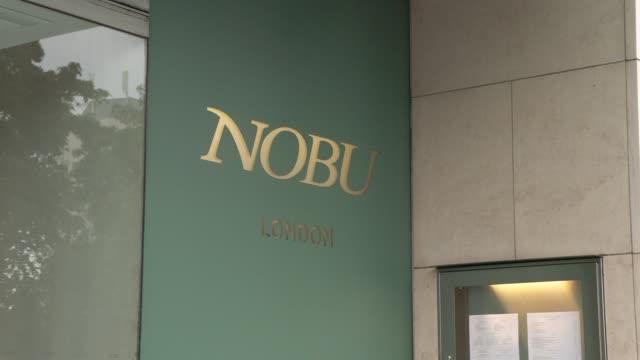 nobu exterior views – daytime general view celebrity hotspots on august 12 2019 in london england - nobu matsuhisa stock videos & royalty-free footage