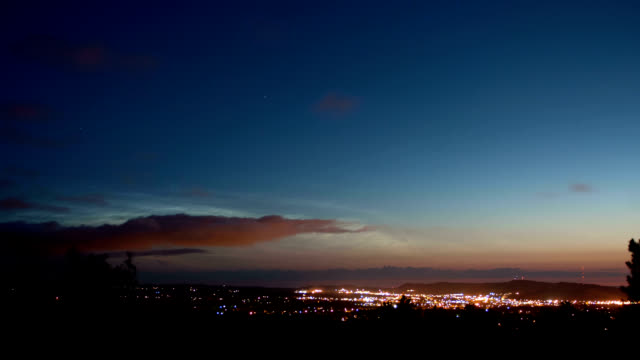Noctilucent clouds, timelapse