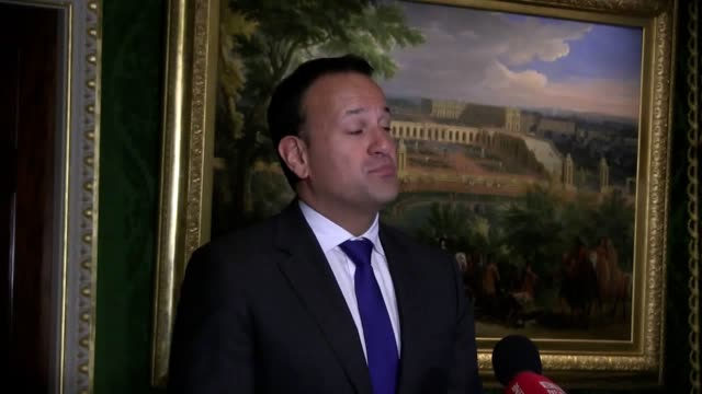 a nodeal brexit will not enable the uk to leapfrog unresolved issues to negotiate a free trade agreement with the eu ireland's premier has warned leo... - leapfrog stock videos & royalty-free footage