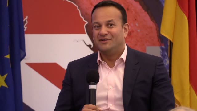 a nodeal brexit would prompt more liberal unionists and nationalists in northern ireland to consider joining a united ireland taoiseach leo varadkar... - leo varadkar stock videos and b-roll footage