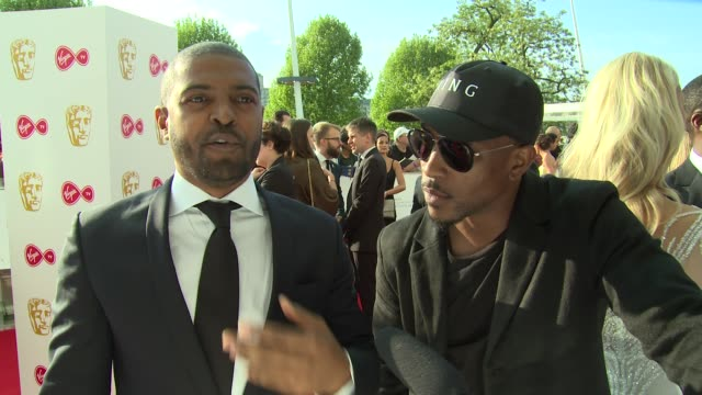 noel clarke ashley walters on the industry ashley's charity and kanye west at the royal festival hall on may 13 2018 in london england - british academy television awards stock videos & royalty-free footage