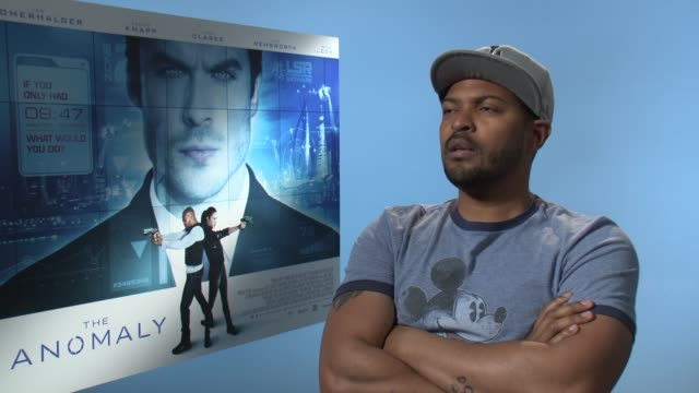 interview noel clarke on playing the perfect action hero and representing nonwhite actors at 'the anomaly' interviews on june 24 2014 in london... - 表す点の映像素材/bロール