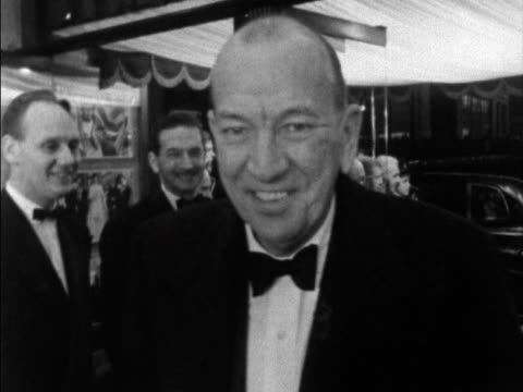 noel coward arrives at the leicester square theatre for the film premiere of once more with feeling 1960 - scriptwriter stock videos and b-roll footage