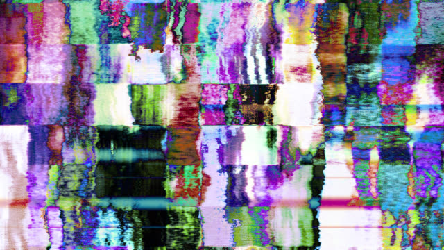 tv noise 1076 hd, 4k stock footage - psychedelic stock-videos und b-roll-filmmaterial