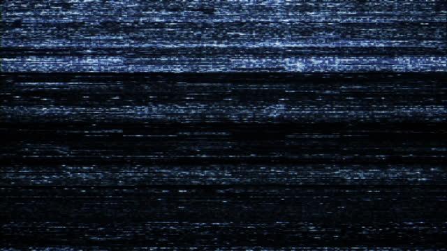 rumore della tv e problemi. segnale perso - terrorizzato video stock e b–roll