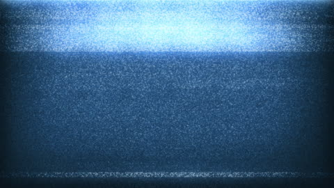 4k tv noise - blue (with sound) - multi layered effect stock videos & royalty-free footage