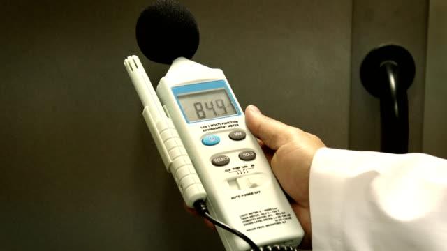 vidéos et rushes de mesure du bruit - mesurer