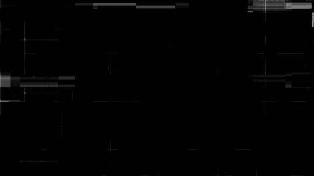 lärm auf analoge tv-bildschirm vhs - schwarzweiß bild stock-videos und b-roll-filmmaterial