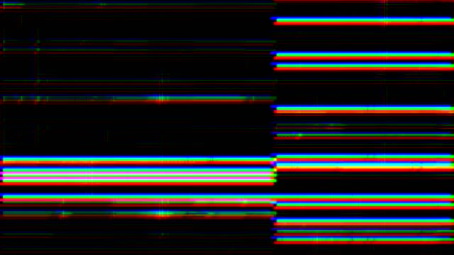noise on analog tv screen vhs - distorto video stock e b–roll