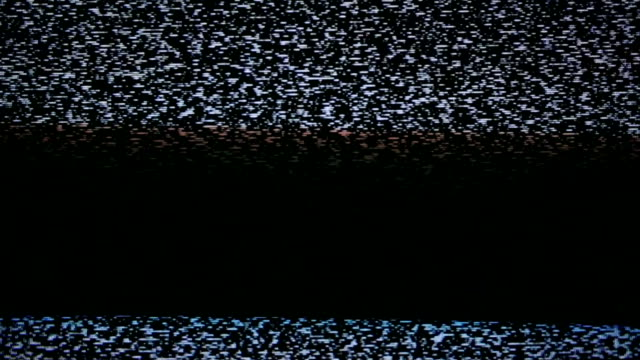 noise television static who cannot receive the video signal.