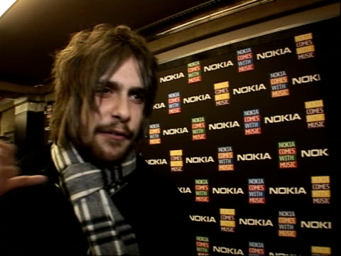 'Nokia Comes With Music' launch party celebrity arrivals and interviews Ben interview SOT On the new nokia phone and downloading tunes versus buying...