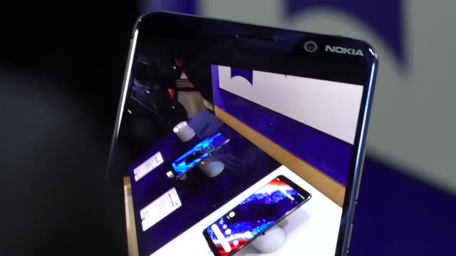 Nokia has just presented the Nokia 9 Pureview at the Mobile World Congress in Barcelona Spain on February 28 2019 A phone with 5 cameras which has an...