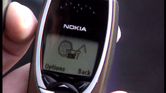 Nokia launches new 'Lumia' smartphone 1990's Vairous of people using Nokia mobile phones