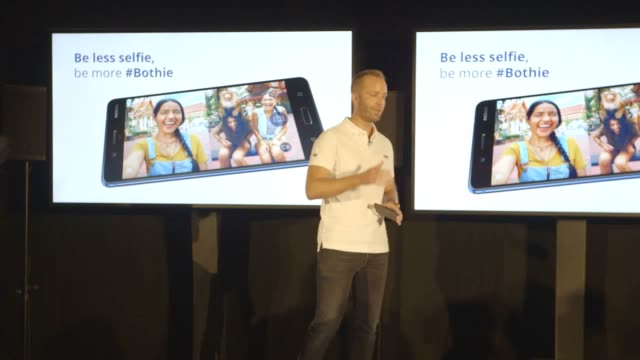 Nokia unveils its first ever Android smartphone in an attempt to take on companies like Samsung and Apple Footage of the chief product officer Juho...