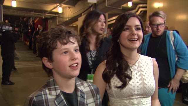 Nolan Gould and Ariel Winter on the event at Nickelodeon's 25th Annual Kids' Choice Awards on 3/31/2012 in Los Angeles CA