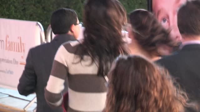 vidéos et rushes de nolan gould with rico rodriguez ariel winter at modern family fan appreciation day in westwood village celebrity sightings in los angeles on - westwood village