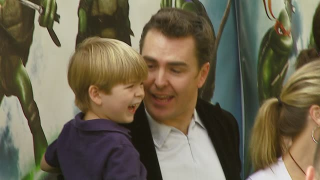 nolan north and son at the 'teenage mutant ninja turtles' world premiere at grauman's chinese theatre in hollywood, california on march 17, 2007. - teenage mutant ninja turtles stock videos & royalty-free footage