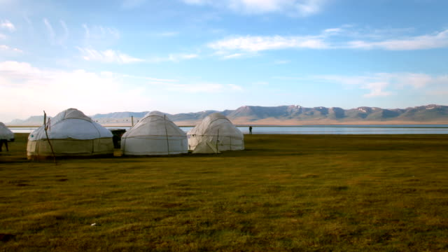 nomadic asian yurt camp - independent mongolia stock videos and b-roll footage