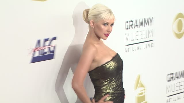 nominations concert live los angeles ca - christina aguilera stock videos & royalty-free footage