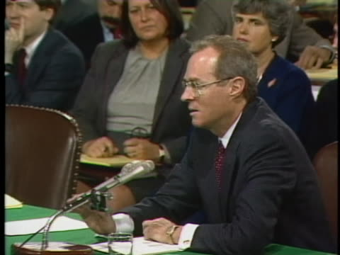 nominee anthony kennedy addresses the u.s. senate supreme court hearings in 1987 prior to his confirmation as a supreme court justice. - nominee stock videos & royalty-free footage