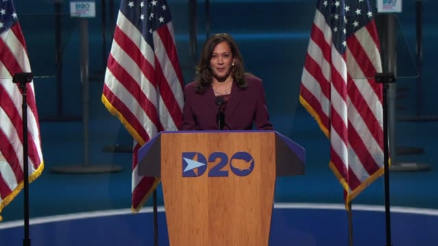 nominee for vice president kamala harris says in her acceptance speech that he was truly an honor to speak to america as a testament to the... - democracy stock videos & royalty-free footage
