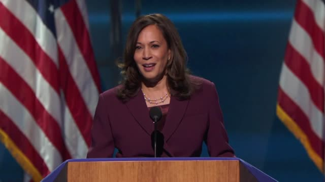 nominee for vice president kamala harris says in her acceptance speech to the 2020 democratic national convention that she kept thinking about her... - nomination stock videos & royalty-free footage
