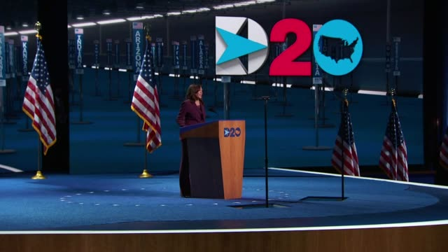 nominee for vice president kamala harris says in her acceptance speech to the 2020 democratic national convention that the user picture to remind the... - nominee stock videos & royalty-free footage