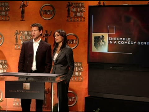 Nominees for Ensemble for a Comedy Series at the 2005 Screen Actors Guild SAG Awards Nominations Announcements at Pacific Design Center in West...