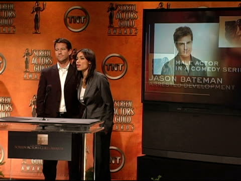 nominees for male actor in a comedy series at the 2005 screen actors guild sag awards nominations announcements at pacific design center in west... - nomination stock videos & royalty-free footage