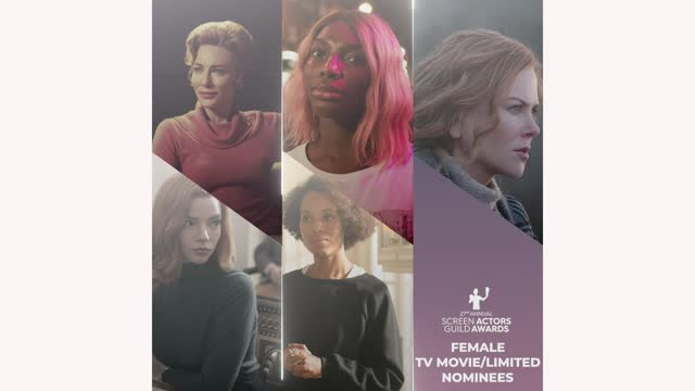 nominees for the female actor in a television movie or limited series award category during the 27th annual screen actors guild awards nominations... - screen actors guild stock videos & royalty-free footage