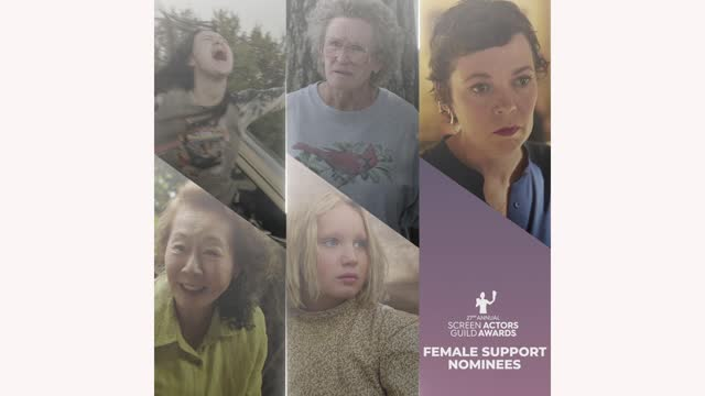 nominees for the performance by a female actor in a supporting role award category during the 27th annual screen actors guild awards nominations... - グレン・クローズ点の映像素材/bロール