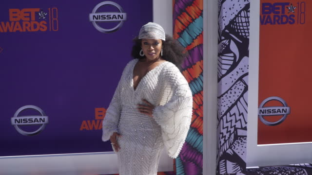 Nomzamo Mbatha at the 2018 BET Awards at Microsoft Theater on June 24 2018 in Los Angeles California