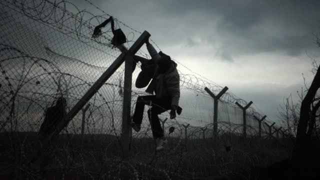 non syrian refugees caught recently in macedonia face their own deportation methods on the idomeni greekmacedonian border at a point along no man's... - greece stock videos & royalty-free footage