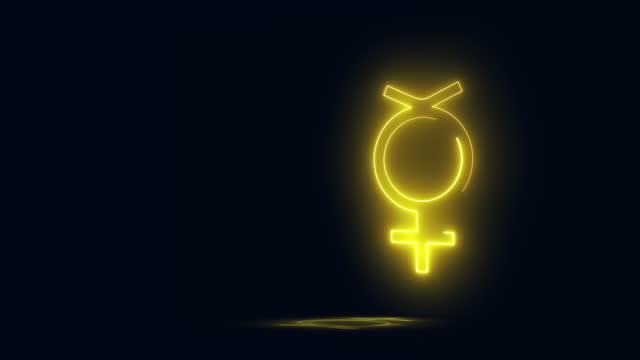 non-binary - gender symbol stock videos & royalty-free footage