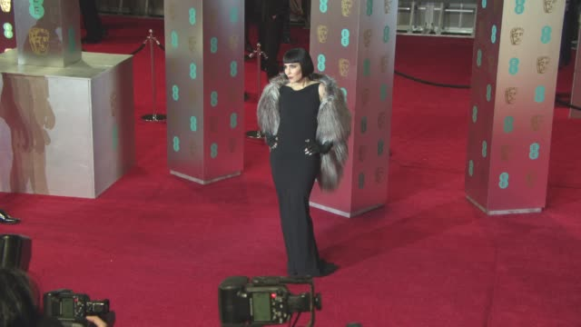 noomi rapace at ee british academy film awards at royal albert hall on february 12 2017 in london england - royal albert hall stock videos and b-roll footage