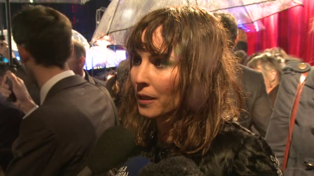 noomi rapace on being in london playing a gypsy if 'the girl with a dragon tattoo' should have been remade at the sherlock holmes a game of shadows... - the girl with the dragon tattoo stock videos and b-roll footage