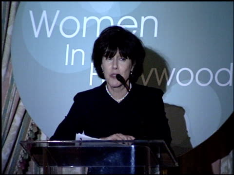 nora ephron at the women in hollywood luncheon at the four seasons hotel in beverly hills, california on october 11, 2000. - nora ephron stock videos & royalty-free footage