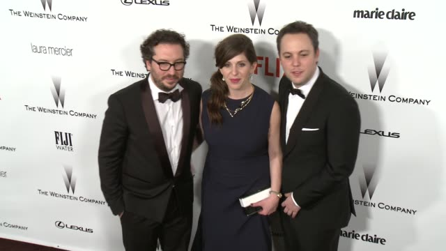 Nora Grossman Teddy Schwarzman and Ido Ostrowsky at the 2015 Weinstein Company And Netflix Golden Globe After Party at Robinsons May Lot on January...