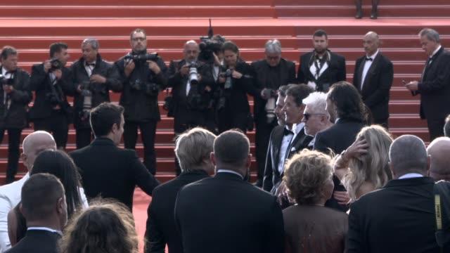 SLOMO Nora Navas Asier Etxeandia Penelope Cruz Pedro Almodovar Antonio Banderas 'Pain Glory ' Red Carpet Arrivals The 72nd Cannes Film Festival on...