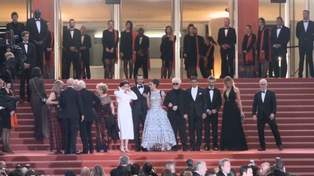 Nora Navas Asier Etxeandia Penelope Cruz Pedro Almodovar Antonio Banderas 'Pain Glory ' Red Carpet Arrivals The 72nd Cannes Film Festival on May 17...