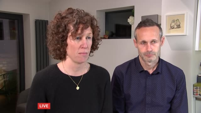parents shocked as malaysian authorities close case into nora quoirin death england int meabh quoirin and sebastien quoirin interview sot - bad news stock videos & royalty-free footage