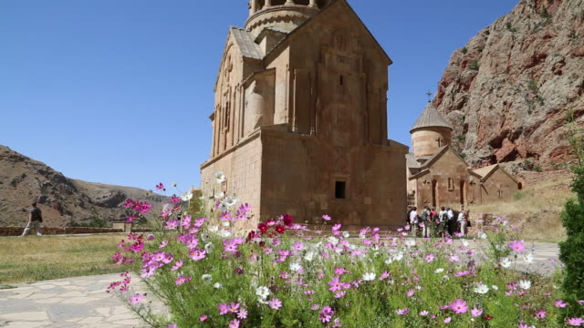 noravank monastery, view of the churches surb astvatsatsin and surb karapet  - circa 13th century stock videos and b-roll footage