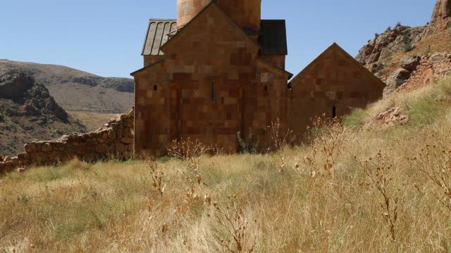 noravank monastery, view of the surb karapet church - circa 13th century stock videos and b-roll footage
