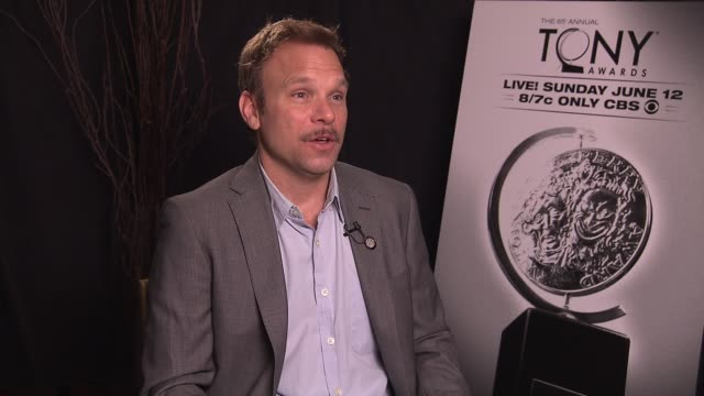 norbert leo butz says this nomination is a culmination of years of hard work so it's a moment to enjoy his favorite tony memory is when he won in... - バーナデット ピータース点の映像素材/bロール
