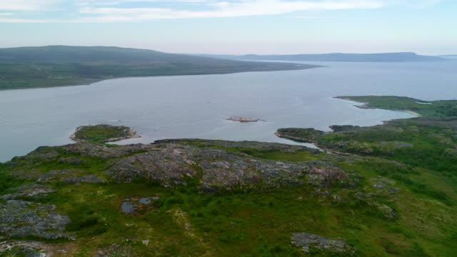 極圏の背後に北の夏の風景。 - 寒帯林点の映像素材/bロール