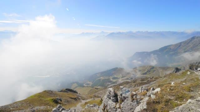 nordkette and karwendel mountain range - karwendel mountains stock videos and b-roll footage