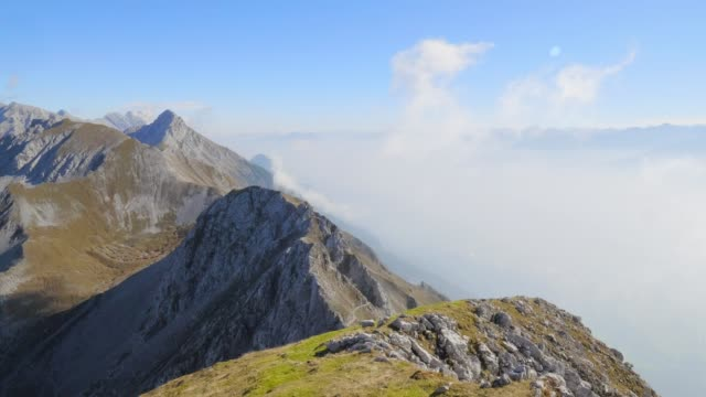 nordkette and karwendel mountain range - extreme terrain stock videos & royalty-free footage