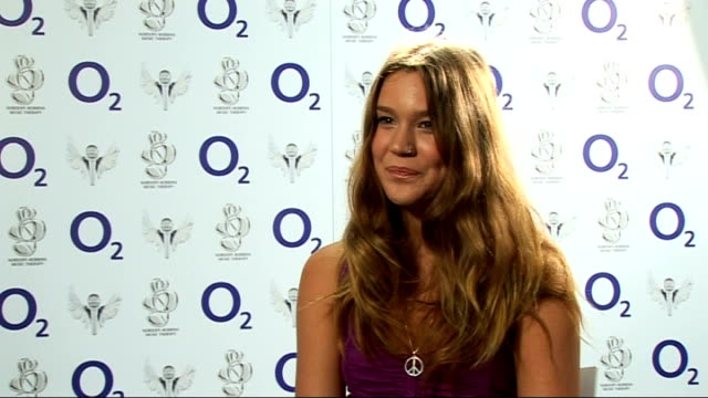 nordoff robbins music charity concert: interview joss stone; joss stone interview continued sot - on people copying her performing barefoot - on x... - tribute event stock videos & royalty-free footage