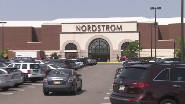 stockvideo's en b-roll-footage met nordstrom department store exteriors from various malls in new jersey - nordstrom