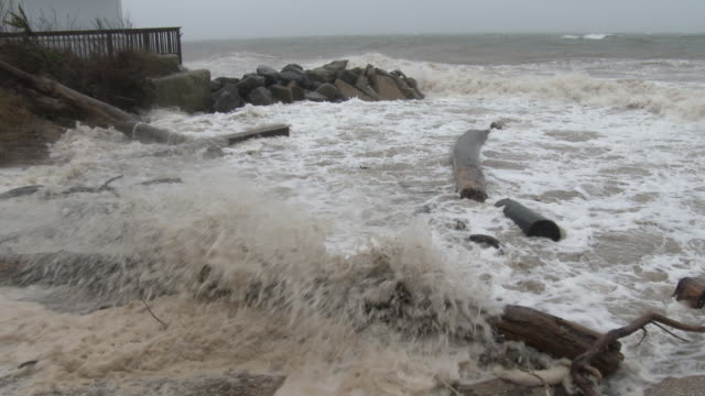 Nor'easter, Waves Carrying Debris Onshore